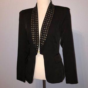 Black blazer with studded collar